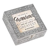 To Have A Grandma Like You is One of Life's Greatest Blessings, Silver Metal Music Box