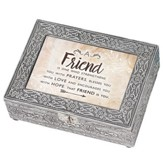 A Friend is One Who Strengthens, Silver Metal Music Box