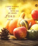 I Give Thanks Thanksgiving Large Bulletins, Pack of 50