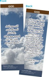And You Will Seek Me and Find Me Bookmarks, Pack of 25