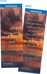 All Things Work Together for Good Bookmarks, Pack of 25