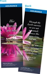 His Mercies Are New Every Morning  Bookmarks, Pack of 25