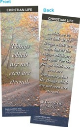 Things Which Are Not Seen Are Eternal Bookmarks, Pack of 25