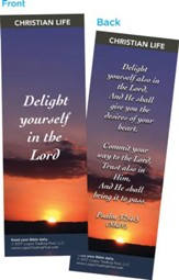 Delight Yourself in the Lord Bookmarks, Pack of 25