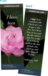 I Have Been Crucified with Christ Bookmarks, Pack of 25