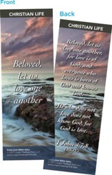 Beloved, Let Us Love One Another Bookmarks, Pack of 25