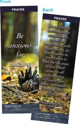 Be Anxious For Nothing Bookmarks, Pack of 25