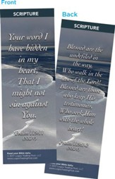 Your Word I Have Hidden in My Heart Bookmarks, Pack of 25