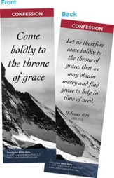 Come Boldly to the Throne of Grace Bookmarks, Pack of 25