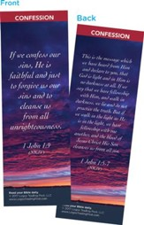 If We Confess Our Sins, He is Faithful Bookmarks, Pack of 25