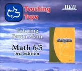 Saxon Math 6/5 Teaching Tape Full Set DVDs, 3rd Edition