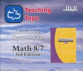 Saxon Math 8/7 Teaching Tape Full Set DVDs, 3rd Edition