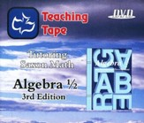 Saxon Math Algebra 1/2 Teaching Tape Full Set DVDs, 3rd Edition