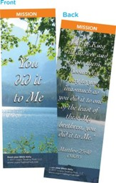 You Did It To Me Bookmarks, Pack of 25