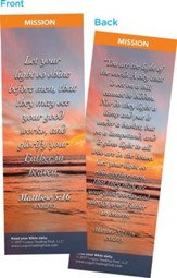Let Your Light So Shine Before Men Bookmarks, Pack of 25