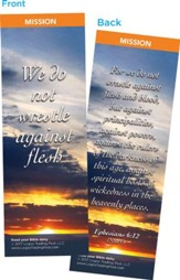 We Do Not Wrestle Against Flesh Bookmarks, Pack of 25