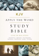 KJV, Apply the Word Study Bible, Ebook, Large Print, Red Letter Edition: Live in His Steps - eBook
