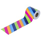 Colorful Stripes Rolled Border, Grades PreK-8