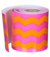 Pink/Orange Chevron Rolled Border, Grades PreK-8
