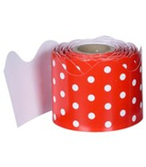 Red & White Dots Rolled Border, Grades PreK-8