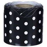 Rolled Scalloped Border: Black & White Dots (2 1/4 x  36')