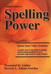 Spelling Power Quick Start Seminar DVD