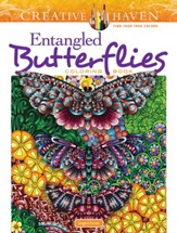 Entangled Butterflies Coloring Book