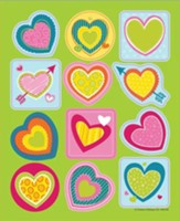 Bright Hearts Shape Stickers, Grades PreK-5