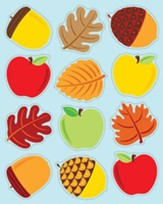 Apples, Acorns & Leaves Shape Stickers, Grades PreK-5