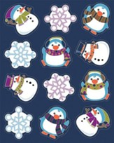 Winter Fun Shape Stickers, Grades PreK-5