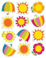 Spring Showers & Sun Shape Stickers, Grades PreK-5