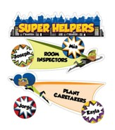 Super Power Super Helpers Mini Bulletin Board Set, Grades K-5