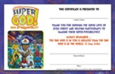 VBS 2017 Super God! - Super Me! Super-Possibility! - Leader Certificates (Pkg of 10)