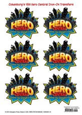 VBS 2017 Hero Central: Discover Your Strength in God! - Iron-On Transfers (Pkg of 6)