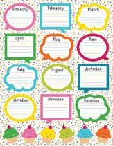 School Pop Birthday Chartlet, Grades PreK-5