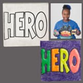 Hero Central & Super God! VBS Craft: Preschool Craft Mini Canvas Art (Pkg of 12)
