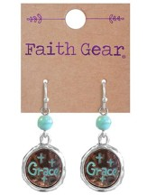 Grace, Cross Earrings