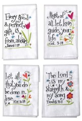 Every Good and Perfect Gift Tea Towel, Set of 4
