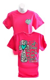 I Will Praise the Lord, Cherished Girl Style Shirt, Pink, Large