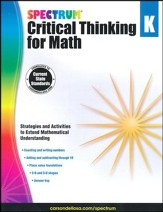 Spectrum Critical Thinking for Math, Grade K