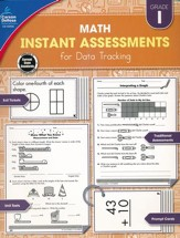 Math Instant Assessments for Data  Tracking, Grade 1