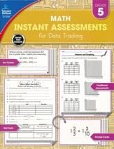 Math Instant Assessments for Data Tracking, Grade 5