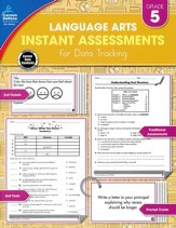 Language Arts Instant Assessments for Data Tracking, Grade 5