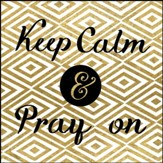 Keep Calm And Pray On Canvas Box Plaque