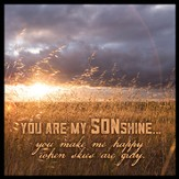 You Are My SONshine Canvas Box Plaque