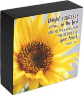 Delight Yourself in the Lord, Psalm 37:4, Box Plaque