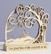 Tree of Life, One Great Tree Of Life Connects Us All Tabletop Plaque