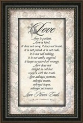 Love Is Patient, Framed Art