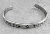Pewter Cuff Bracelet, Reach For The Moon