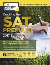 Cracking the SAT Premium Edition with 6 Practice Tests, 2017 - eBook
